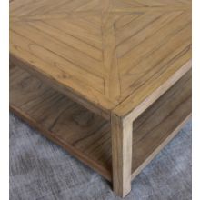 Weathered Transitions Square Coffee Table
