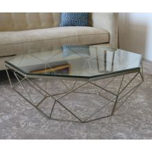 Antique Brass Geometric Coffee Table