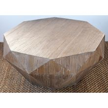 Reclaimed Elm Faceted Coffee Table