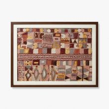 Burgundy Embroidery 1 41.5W X 32H - Cleared Decor