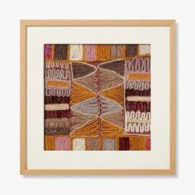 Burgundy Embroidery 5 21.25W X 21.25H - Cleared Decor