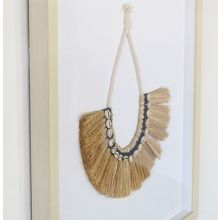 Raeni Necklace Of Grass Fronds & Shells 23W X 30H