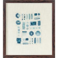 Abstract Blue Textile  18W X 20H - Cleared Decor