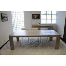 Messina Dining Table in Graywash Finish
