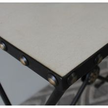 Iron Rosette French Side Table