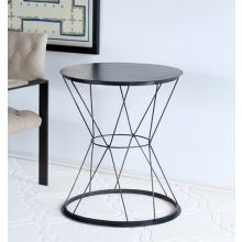 Metal Basket Side Table