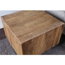 Butcher-Block End Table