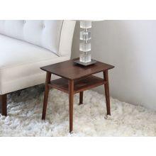 Vintage Danish Modern End Table in American Black Walnut