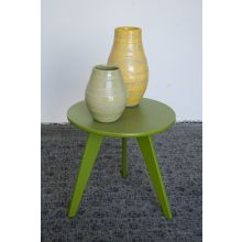 Recycled Plastic End Table In Green