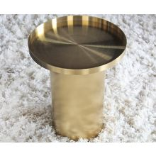 Titanium Gold Drum End Table