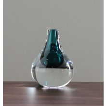 Lagoon Hand Blown Glass Droplet Object - Cleared Décor