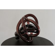Large Brown Hand Blown Glass Wrap Object - Cleared Décor