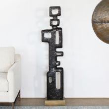 "57"" High Bronze Abstract Sculpture - Cleared Decor"