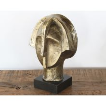 Gold Abstract Head Sculpture - Cleared Decor