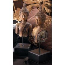 Set of 2 Burmese Buddha on Stands