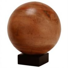 Large Wood Orb on Stand