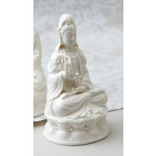 White Porcelain Goddess Statue