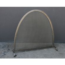Iron Mesh Riveted Fireplace Screen