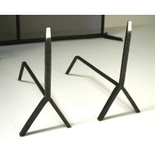 Forged Steel Andirons (Set of 2)
