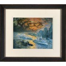 New York Harbor Watercolor II 36W x 32H