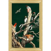 Woodland Birds 1 (Small Green)  12W X 18H