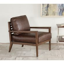 Laurent Wood Frame Lounge Chair