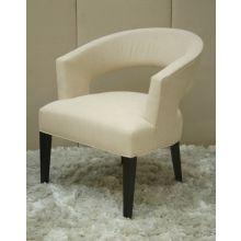 Modern Cream Cutout Chair