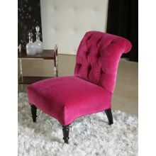 Petite Orchid Tufted Scroll-Back Lounge Chair