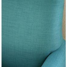 Aqua Woven Chair with Walnut Legs