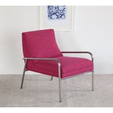Jena Lounge Chair in Magenta