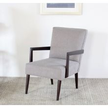 Gray Lounge Chair with Tapered Wenge Legs