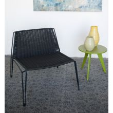 Penelope Lounge Chair In Black