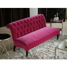 Orchid Tufted Scroll-Back Love Seat