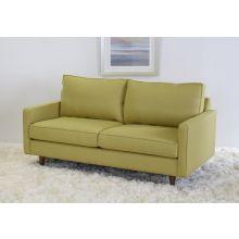 Modern Fern Apartment Sofa with Tapered Walnut Legs