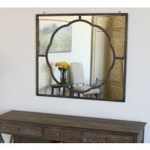 Metal Frame Clover Mirror