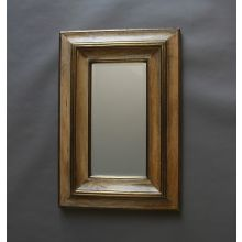 Oak Beveled Frame Mirror
