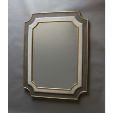 Scalloped Shagreen Mirror