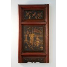 Antique Hand-Painted Chinese Wooden Panels