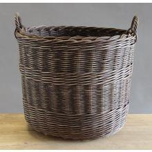 Dark Wicker Oval Basket
