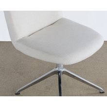 Off White Desk Chair With Swivel Base
