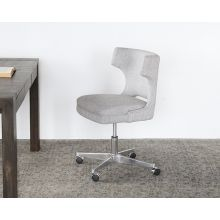 Wingback Desk Chair in Gray