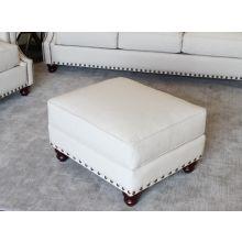 Natural Linen Ottoman