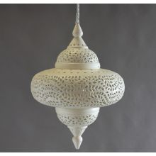 Large Off White Moroccan Lantern