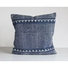 Tribal Print Indigo Pillow
