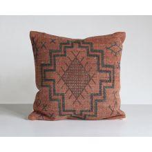 Tribal Print Rust Pillow