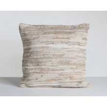 Stitch Stone Leather Pillow