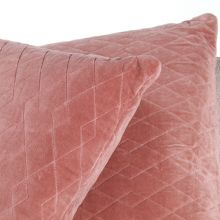 Rose Quilted Velvet Pillow