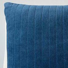 Navy Quilted Velvet Pillow