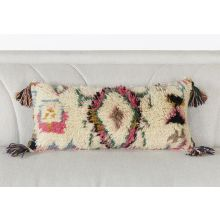Pink Tribal Pillow With Fringe
