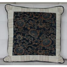 East Asia Chrysanthemums Square Pillow, Vintage 1930's Textiles
